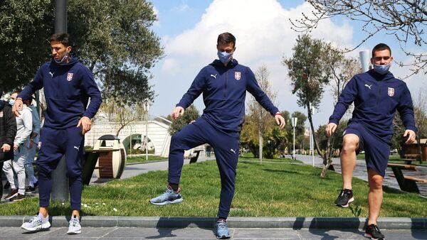 Тренировка сборной Сербии по футболу в Баку - Sputnik Азербайджан