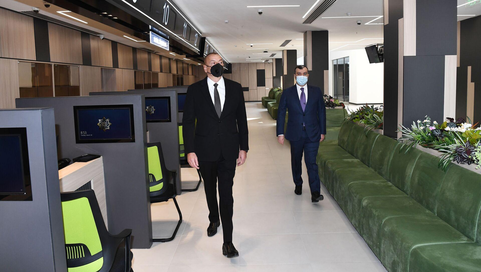 Prezident İlham Əliyev açılışda iştirak edib - Sputnik Азербайджан, 1920, 30.03.2021