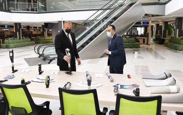 Президент Азербайджана Ильхам Алиев принял участие в церемонии открытия Центра DOST номер 4  - Sputnik Азербайджан