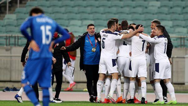 Матч отборочного цикла ЧМ-2022 между сборными Азербайджана и Сербии - Sputnik Азербайджан