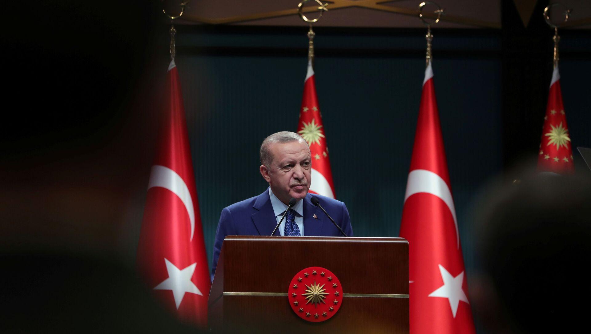 Президент Турции Реджеп Тайип Эрдоган, фото из архива - Sputnik Азербайджан, 1920, 23.09.2021