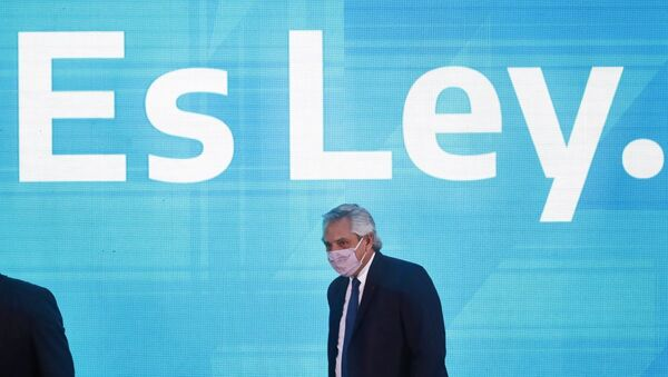 Argentina Prezidenti Alberto Fernandez  - Sputnik Azərbaycan