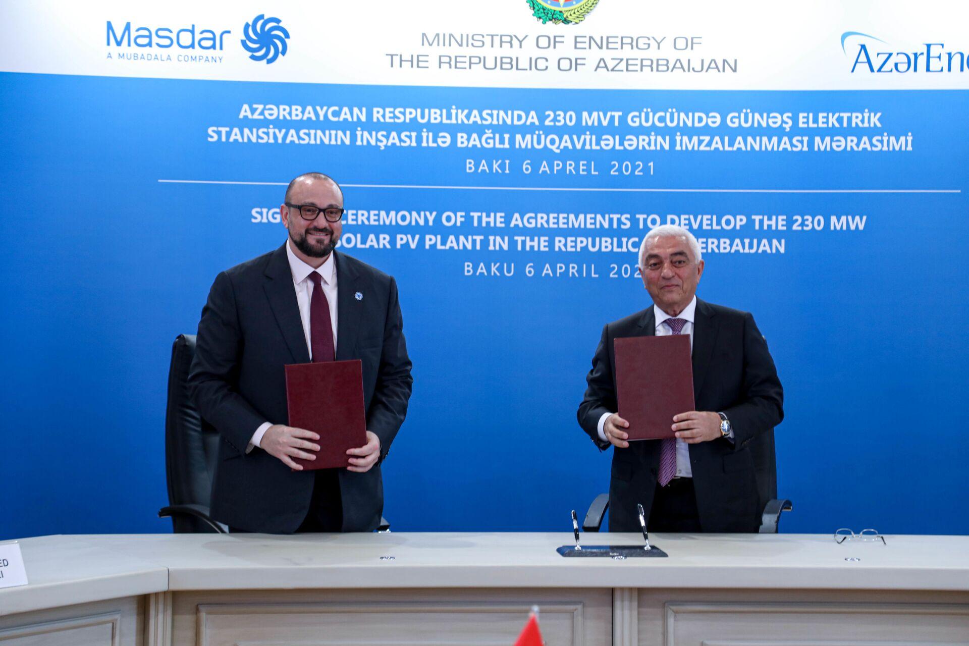 Азербайджан договорился о строительстве солнечной электростанции с компанией из ОАЭ - Sputnik Азербайджан, 1920, 07.04.2021