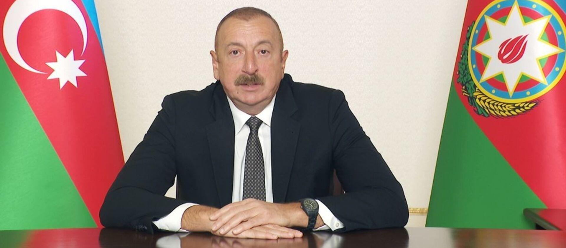 Президент Азербайджана Ильхам Алиев - Sputnik Азербайджан, 1920, 06.04.2021