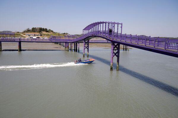 Пурпурный мост (мост Ангела), соединяющий острова Банвол и Паркджи, в провинции Южная Чолла в Южной Корее - Sputnik Азербайджан