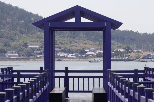 Фиолетовые острова в провинции Южная Чолла в Южной Корее - Sputnik Азербайджан