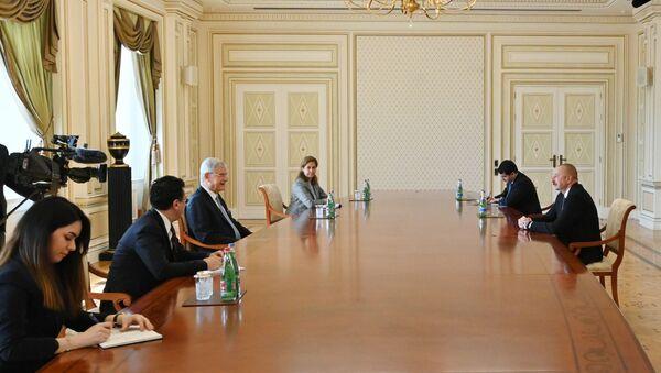 Prezident İlham Əliyev BMT Baş Assambleyasının 75-ci sessiyasının prezidentini qəbul edib - Sputnik Азербайджан