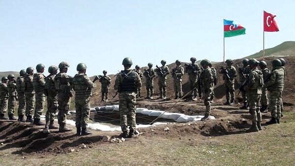 Совместные оперативно-тактические учения азербайджанской и турецкой армий - Sputnik Азербайджан