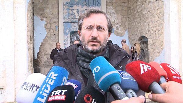 Руководитель Управления по коммуникациям Администрации Президента Турции Фахреттин Алтун - Sputnik Азербайджан