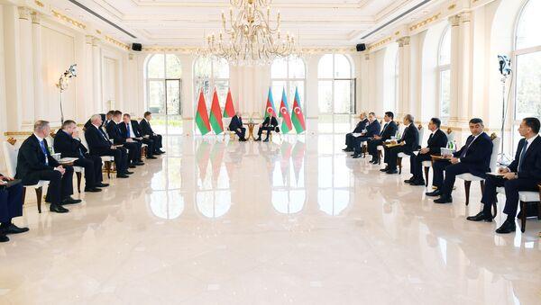 Президент Азербайджанской Республики Ильхам Алиев и Президент Беларуси Александр Лукашенко - Sputnik Azərbaycan