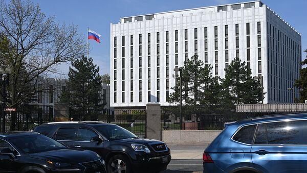 Посольство России в Вашингтоне, фото из архива  - Sputnik Azərbaycan