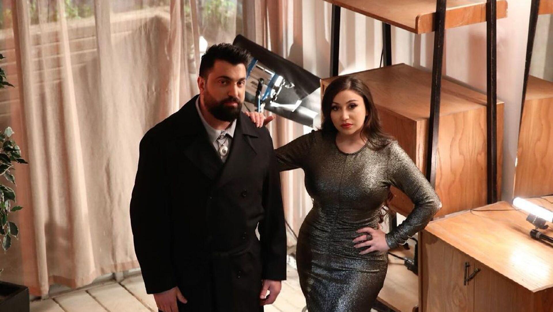 Известная азербайджанская певица Дамла (Масума Мамедова) с Шамилем Ибрагимовым - Sputnik Азербайджан, 1920, 21.04.2021
