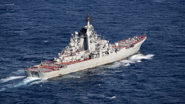 Британские ВМС и ВВС сопровождают российские корабли Адмирал Кузнецов и Петр Великий - Sputnik Azərbaycan