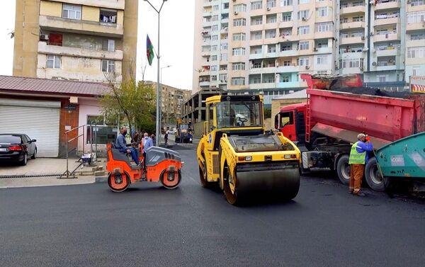 Ремонт автодорог в Хатаинском районе столицы - Sputnik Азербайджан