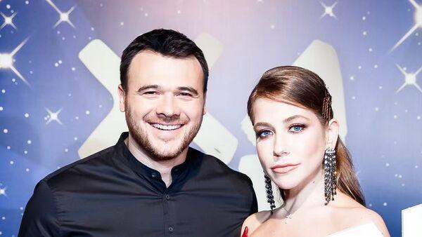 Эмин Агаларов с известной ведущей Юлией Барановской - Sputnik Азербайджан