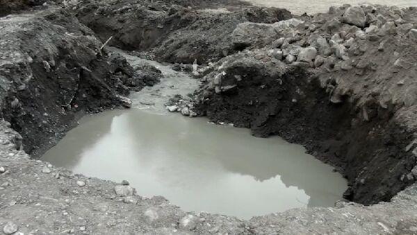 Zaqatala rayonunun Suvagil kəndində yeni artezian quyusu çökdü - Sputnik Azərbaycan
