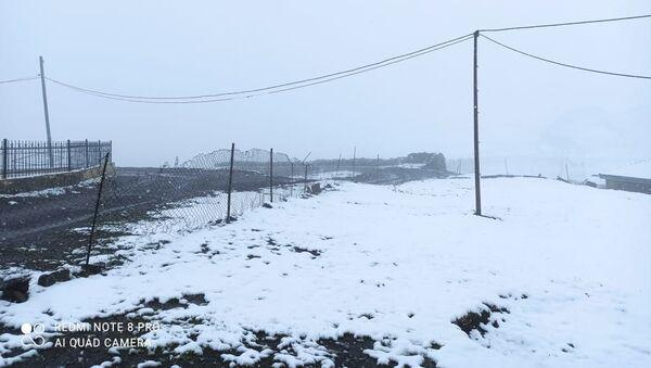 Xınalığa qar yağıb - Sputnik Азербайджан