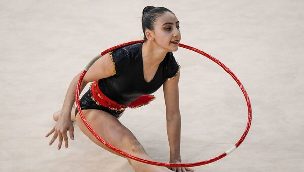 Лидер сборной Азербайджана по художественной гимнастике Зохра Агамирова - Sputnik Азербайджан