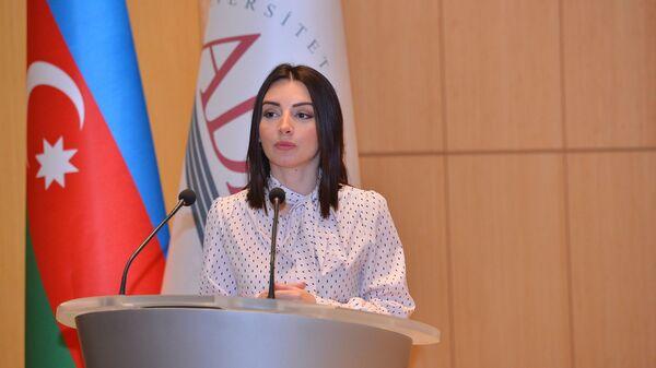 Xarici İşlər Nazirliyinin Mətbuat xidməti idarəsinin rəisi Leyla Abdullayeva - Sputnik Азербайджан