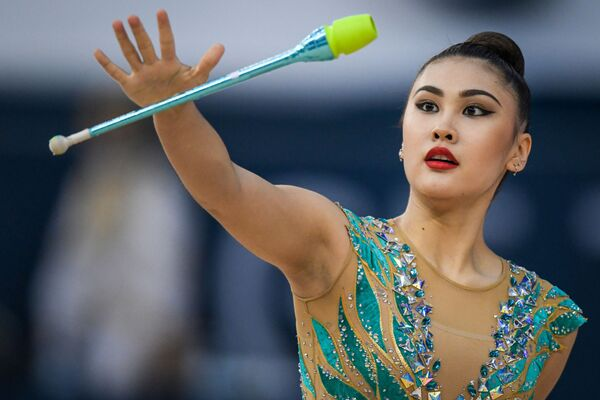 Спортсменка из Кыргызстана Айша Изабекова - Sputnik Азербайджан