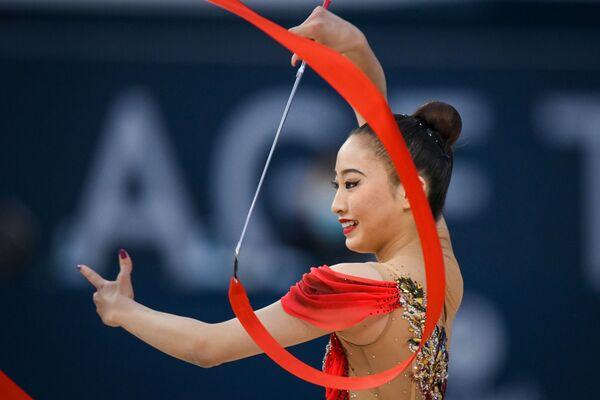 Японская гимнастка Ойва Чисаки - Sputnik Азербайджан