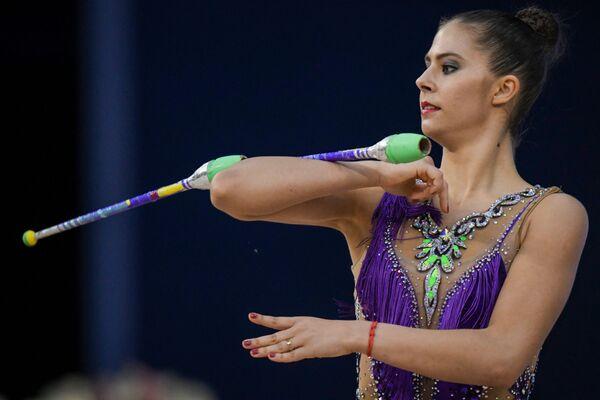 Венгерская гимнастка Пигницки Фанни - Sputnik Азербайджан