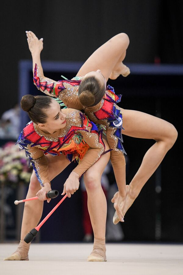 Команда сборной Беларуси по художественной гимнастике - Sputnik Азербайджан