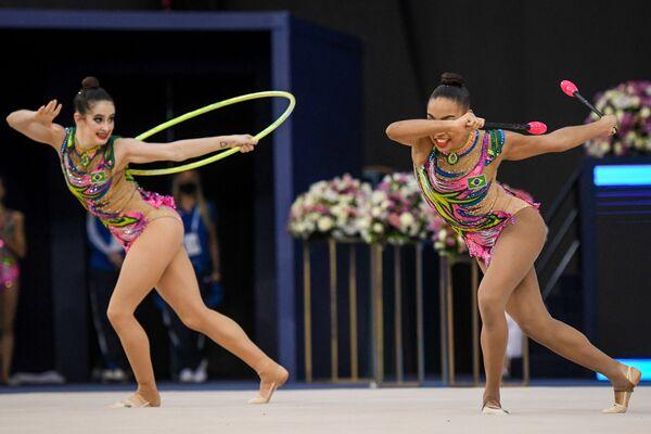 Команда сборной Бразилии по художественной гимнастике - Sputnik Азербайджан