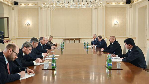 Встреча президента Азербайджана Ильхама Алиева с делегацией МИД России во главе с Сергеем Лавровым - Sputnik Азербайджан