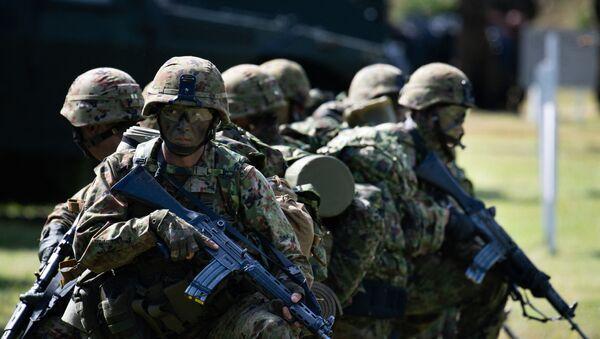 Японские силы самообороны, фото из архива - Sputnik Азербайджан
