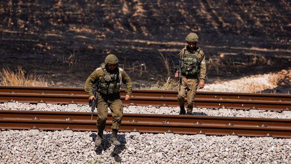 Израильские военнослужащие в секторе Газа - Sputnik Азербайджан