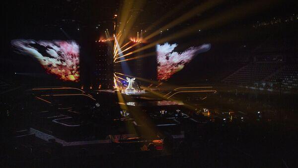 Общий вид концертного зала «Ахой» в Роттердаме , который должен был принять конкурс «Евровидение», фото из архи - Sputnik Азербайджан
