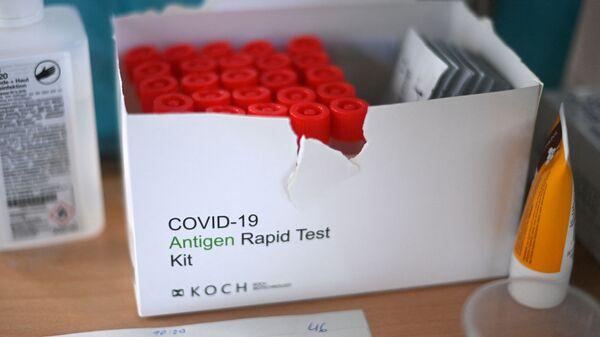 Наборы для экспресс-тестов от коронавируса, фото из архива - Sputnik Азербайджан