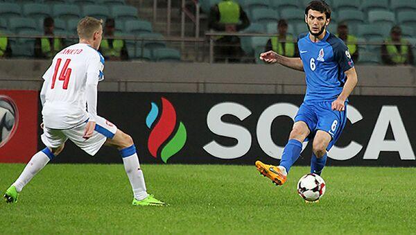 Лого SOCAR во время матча сборной Азербайджана - Sputnik Азербайджан