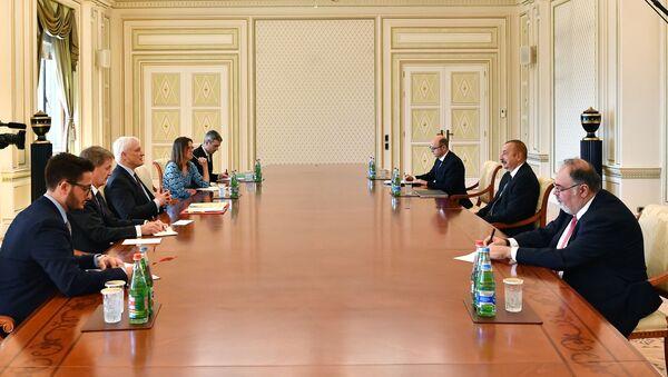Prezident İlham Əliyev Böyük Britaniyanın ixracat nazirini qəbul edib - Sputnik Азербайджан