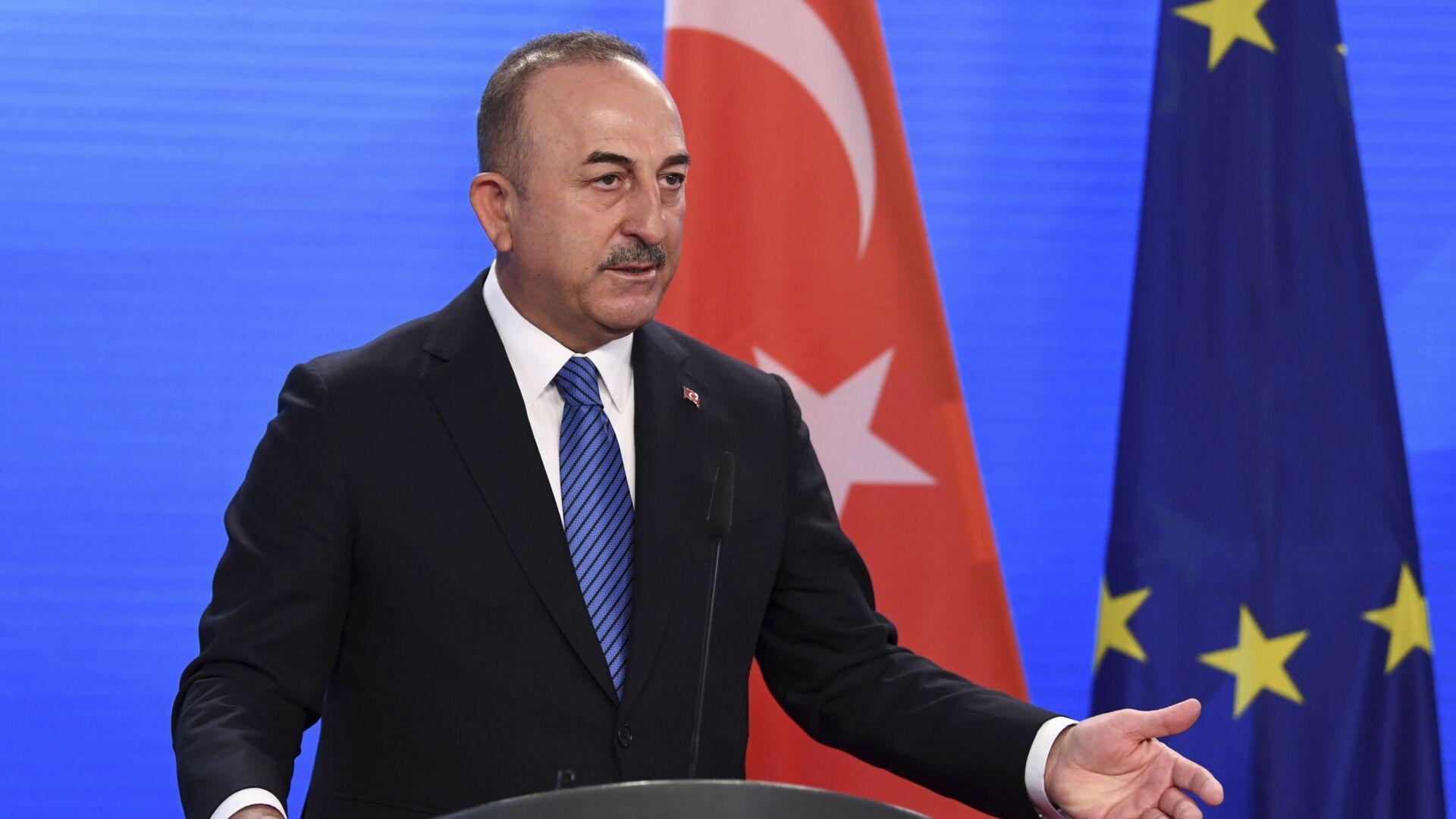 Министр иностранных дел Турции Мевлют Чавушоглу, фото из архива - Sputnik Азербайджан, 1920, 14.08.2021