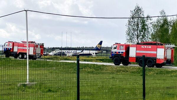 Самолоет авиакомпании Ryanair в аэропорту Минска - Sputnik Azərbaycan