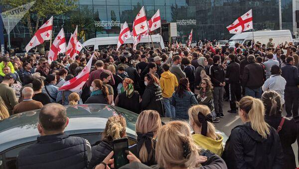 Протест против Намахвани ГЭС в Тбилиси - Sputnik Азербайджан