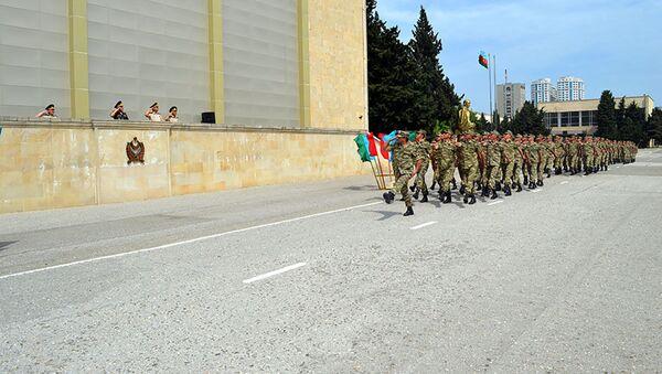 """""""Ehtiyat zabit hazırlığı kursu""""nun buraxılış mərasimi - Sputnik Azərbaycan"""