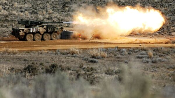 Артиллерийская самоходка Stryker M1128 Mobile Gun System  - Sputnik Azərbaycan