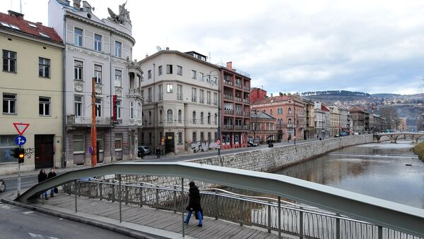 Вид на город Сараево, фото из архива - Sputnik Азербайджан