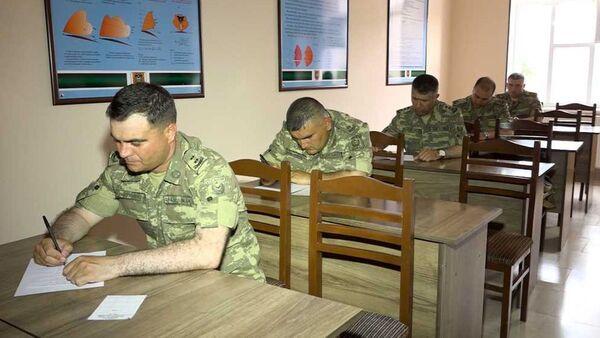 Naxçıvan Qarnizonu Qoşunlarında növbəti komandir hazırlığı məşğələsi - Sputnik Азербайджан