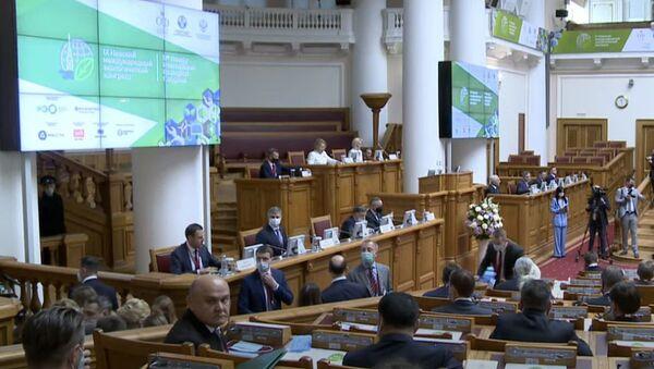 Пленарное заседание Невского экологического конгресса - Sputnik Азербайджан