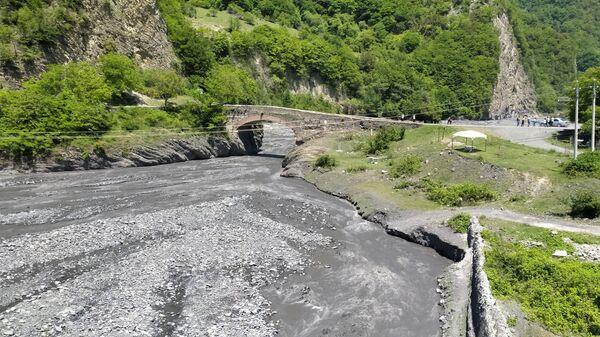 Qax rayonu ərazisində Ulu körpündə - Sputnik Азербайджан