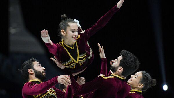 Выступление команды Азербайджана по спортивной аэробике на 16-м чемпионате мира в Баку  - Sputnik Azərbaycan