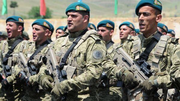 Новый военный комплекс Госпогранслужбы Азербайджана в Зангилане - Sputnik Азербайджан