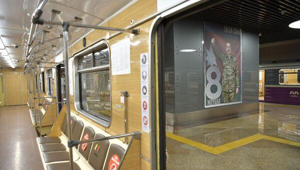 Станция «8 Ноября» Бакинского метрополитена - Sputnik Azərbaycan