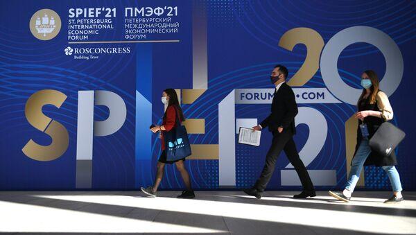 ПМЭФ-2021. Работа форума - Sputnik Азербайджан