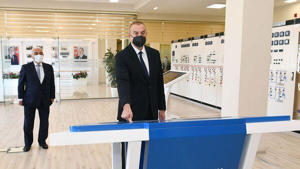 Президент Ильхам Алиев принял участие в открытии подстанции Бинагади - Sputnik Азербайджан