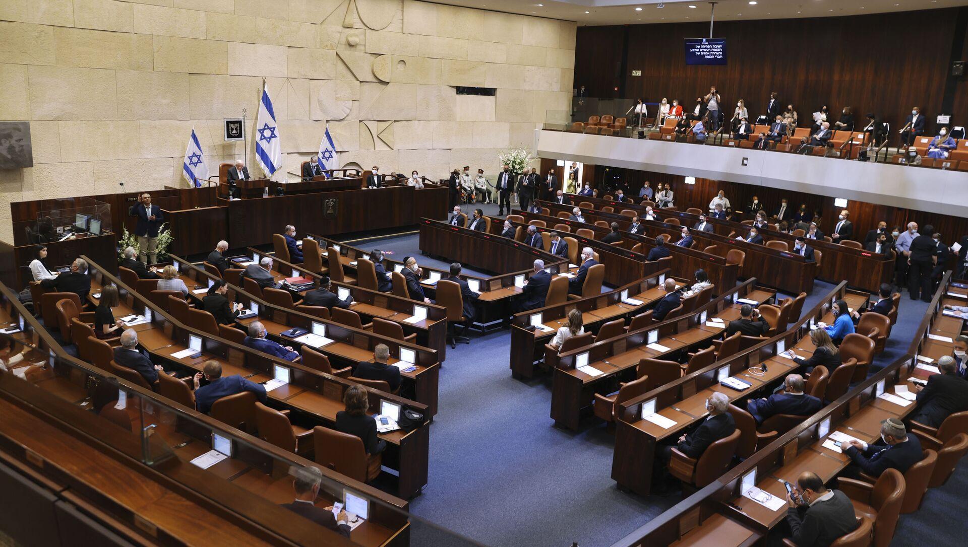 Заседание Кнессет (израильский парламент),фото из архива - Sputnik Азербайджан, 1920, 03.06.2021